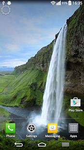 Vodopád Zvuk Živé Tapety - náhled