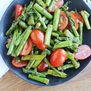 Roasted Asparagus & Tomato Balsamic Salad