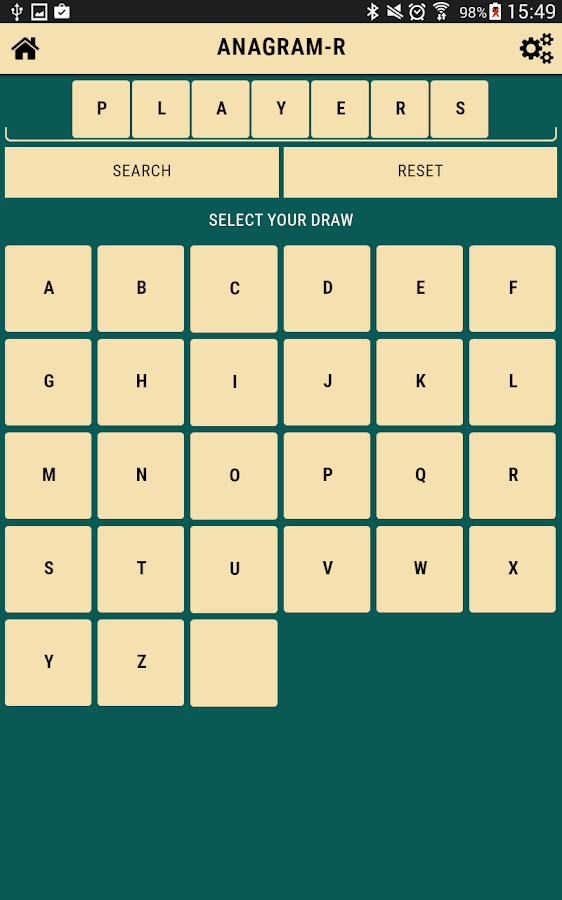 Anagrams free- screenshot