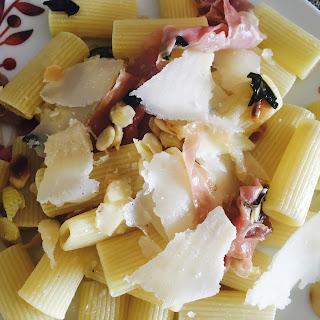 Lemon, Basil, Prosciutto and Almond Pasta Recipe