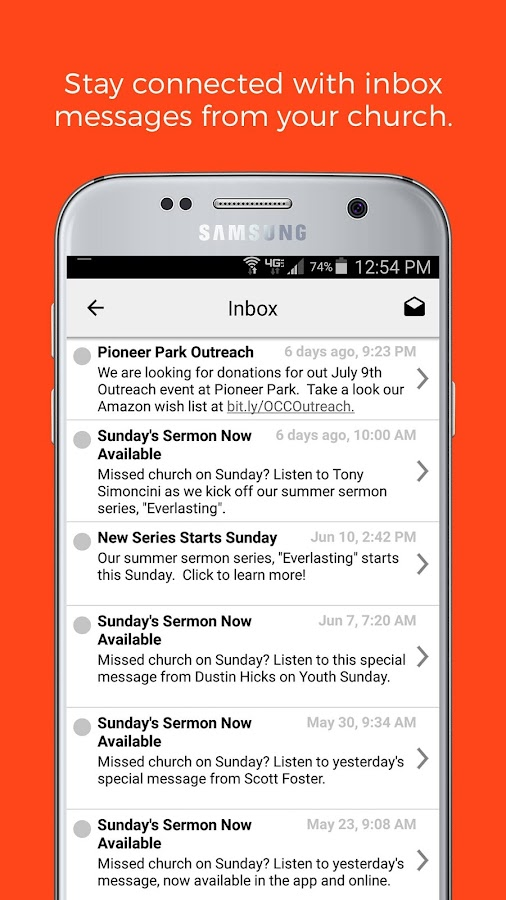 ChurchLink- screenshot