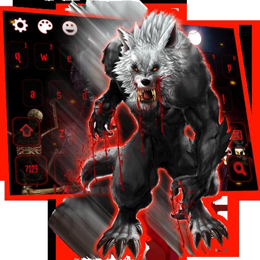 Bloody Werewolf 3D Skull Keyboard