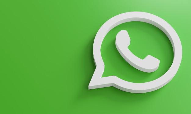 Modelo de design simples minimalista do whatsapp whatsapp. copie o espaço  3d | Foto Premium