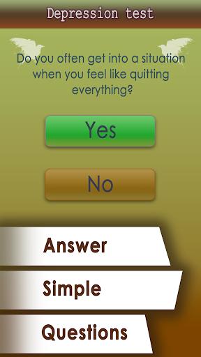 Depression test Screenshot