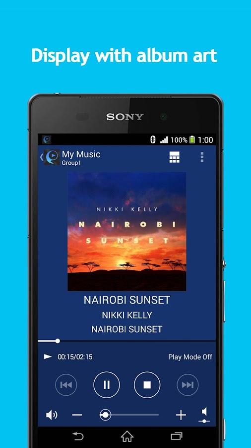 SongPal:Bluetooth/Wi-Fi remote- screenshot