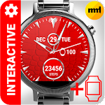 Watch Face Red Art Inter Icon