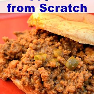 Sloppy Joes from Scratch