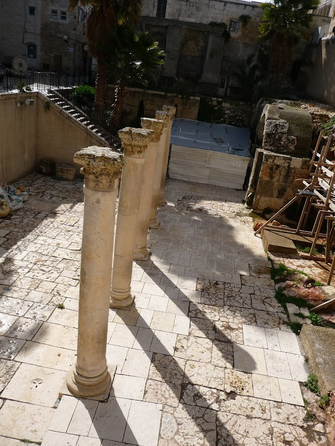 Leftover Roman columns within the Jewish Quarter