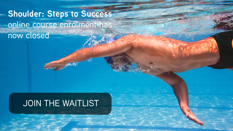 Join the waitlist for The Shoulder: Steps to Success online course