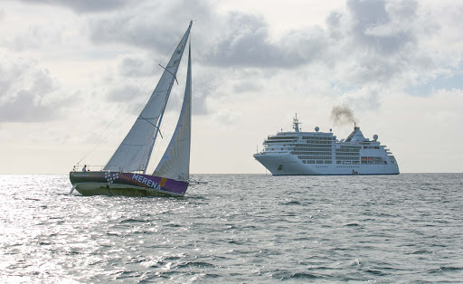 Silver-Spirit-in-Le-Marin.jpg - Silver Spirit and a yacht share the tranquil waters of Le Marin Lagoon in Martinique.