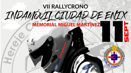 Hoy se ha presentado la VII edición del Rally-Crono Indamóvil Ciudad de Enix