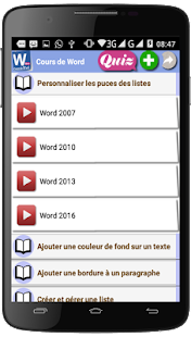 Cours de Word - náhled