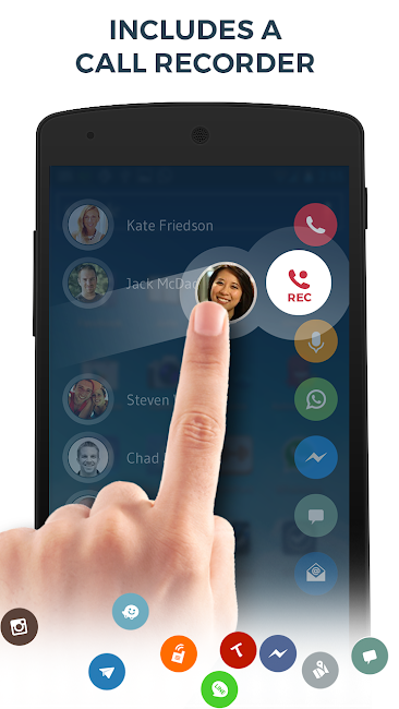 #4. Contacts Phone Dialer: drupe (Android)