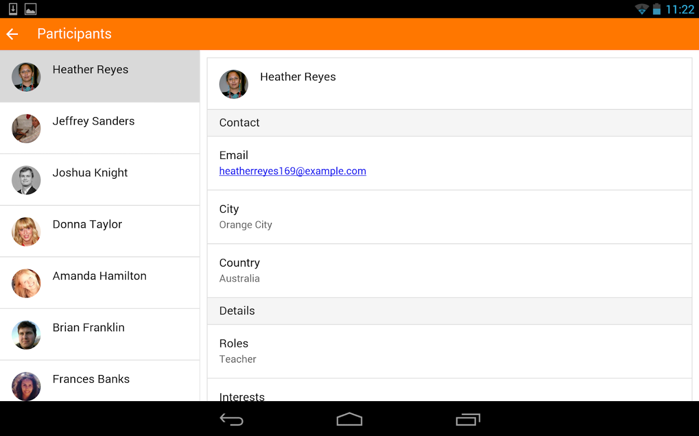 Moodle Mobile: captura de tela