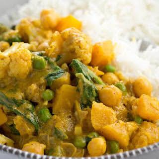 Chickpea, Cauliflower, and Butternut Squash Curry [Vegan].