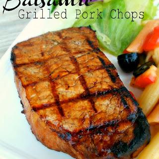 Balsamic Grilled Pork Chops.