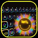 Neon Smile Sun Keyboard Background icon