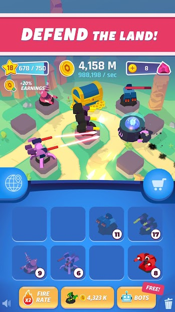 Merge Tower Bots Android App Screenshot
