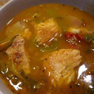 Tomato Basil Fish Soup