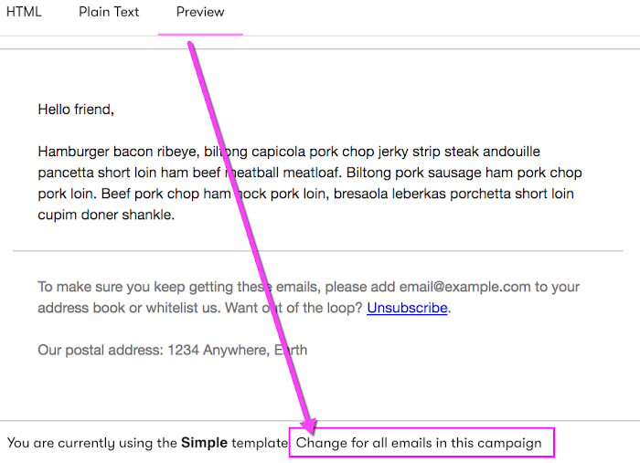 Change email templates