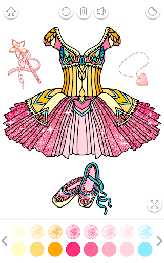 Ballerina Coloring Book Glitter - Girl Games android2mod screenshots 8