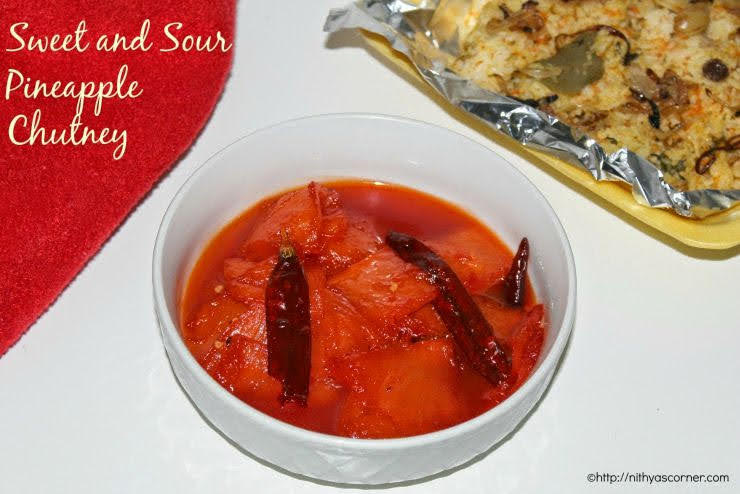Sweet and Sour Pineapple Chutney