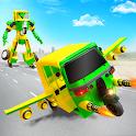 Flying Tuk Tuk Robot Transform: Hero Robot Games icon