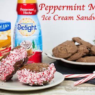 Peppermint Mocha Ice Cream Sandwiches