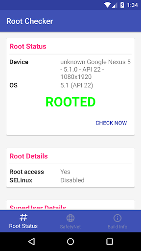 Root and SafetyNet Checker 1.1 screenshots 1