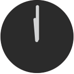 12 o'clock clock face icon
