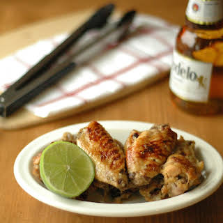 Crockpot Beer Glazed Honey Lime Chicken Wings.
