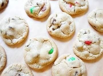 Chocolate Chip M&M's Christmas Cookie Recipe