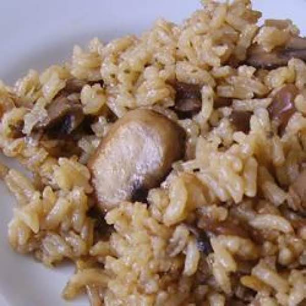 Baked Rice And Mushroom Casserole