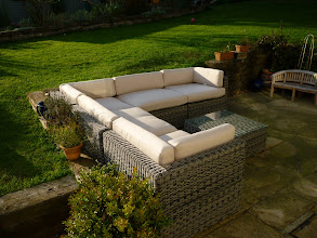 Photo: Rattan Garden Furniture Corner sofa Sets  http://www.outsideedgegardenfurniture.co.uk/Rattan-Garden-Furniture/Sofa-Sets/index.html