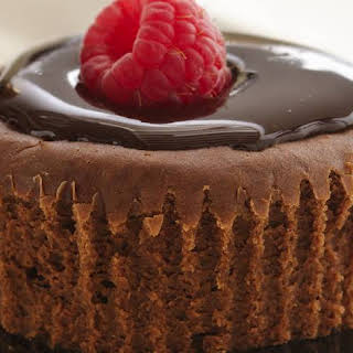 Skinny Mini Chocolate Cheesecakes.