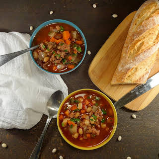 Slow Cooker Italian Chicken Sausage and Bean Stew.