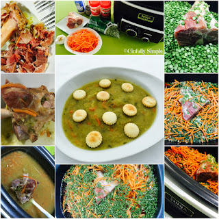 Simple Skinny Slow Cooker Split Pea Soup