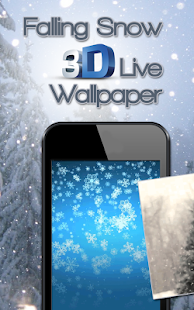 Falling Snow 3D Live Wallpaper - náhled