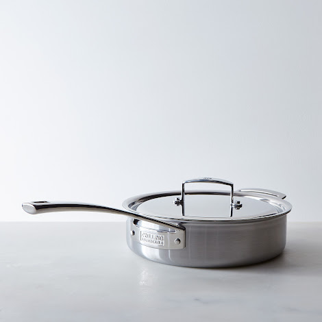 Zwilling Aurora 5-Ply Stainless Steel Sauté Pan with Lid, 3QT
