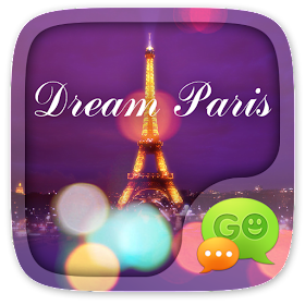 GO SMS DREAM PARIS THEME