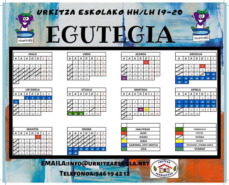 EGUTEGIA 2019-2020