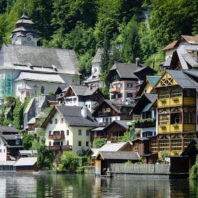A Different Perspective - Hallstatt, Austria by Jebark Fineartphotography - Buildings & Architecture Homes ( water, village, hallstatt, austria, historic, alpine, alps )