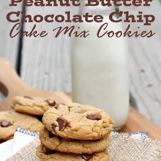 Peanut Butter Chocolate Chip Cake Mix Cookies.