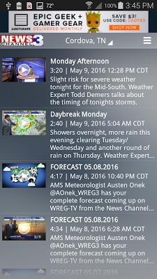 WREG Memphis Weather - screenshot