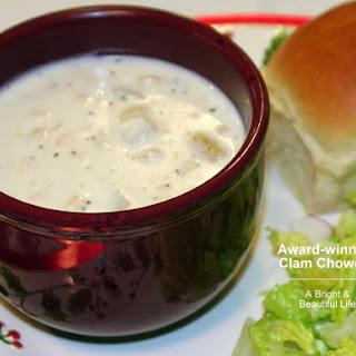 Award-winning Clam Chowder.