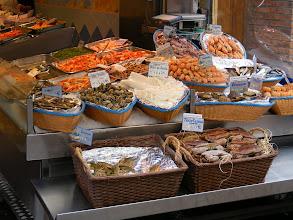 Photo: Saturday morning brings us to what many of the locals are doing - shopping for the day's needs (in our case, a picnic lunch) at one of Paris' market streets. Our favorite is the Rue Mouffetard (La Mouffe to locals), and its impeccably fresh offerings, as shown here at the poissonerie.