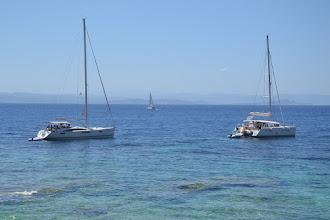 Photo: v pozadí už brehy Sardínie