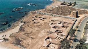 Vista del yacimiento arqueológico de la Baria romana, excavado en el verano de 2004 junto al solar perdido en el Supremo.