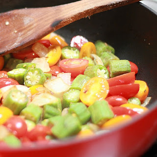One More Southern Dish ~ Okra and Tomatoes