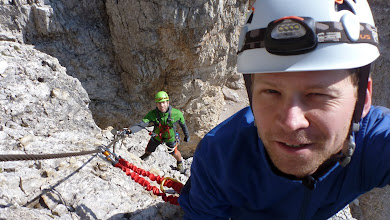 Photo: Almost there. This ferrata was much easier than Toblinger Knoten yesterday.